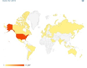 Countries that have viewed the blog