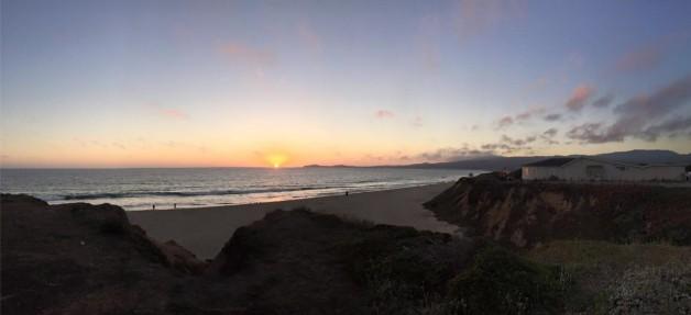 West Coast sunset-Half moon bay
